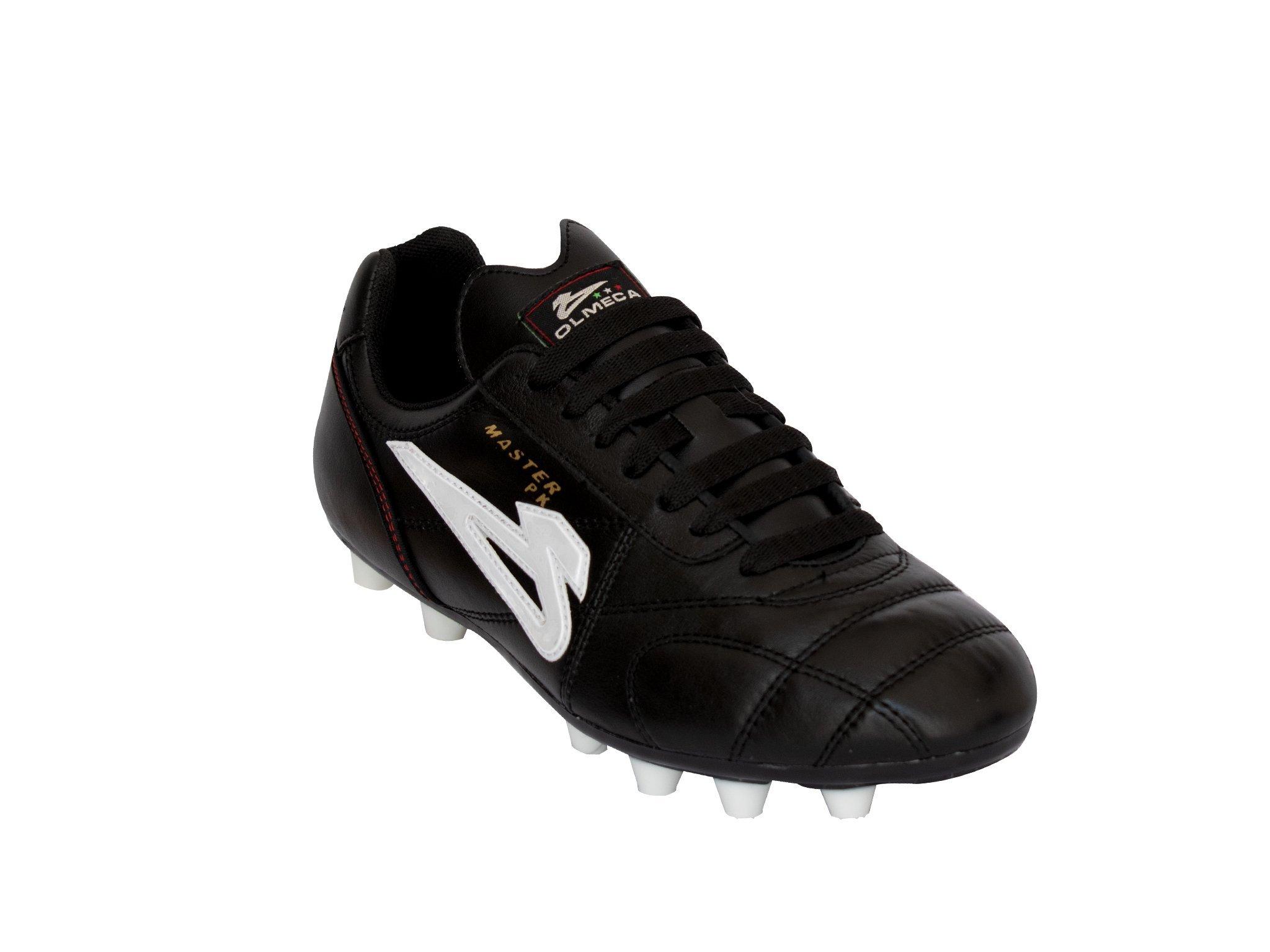 Zapato de fútbol Olmeca mod. master pk negro piel de canguro