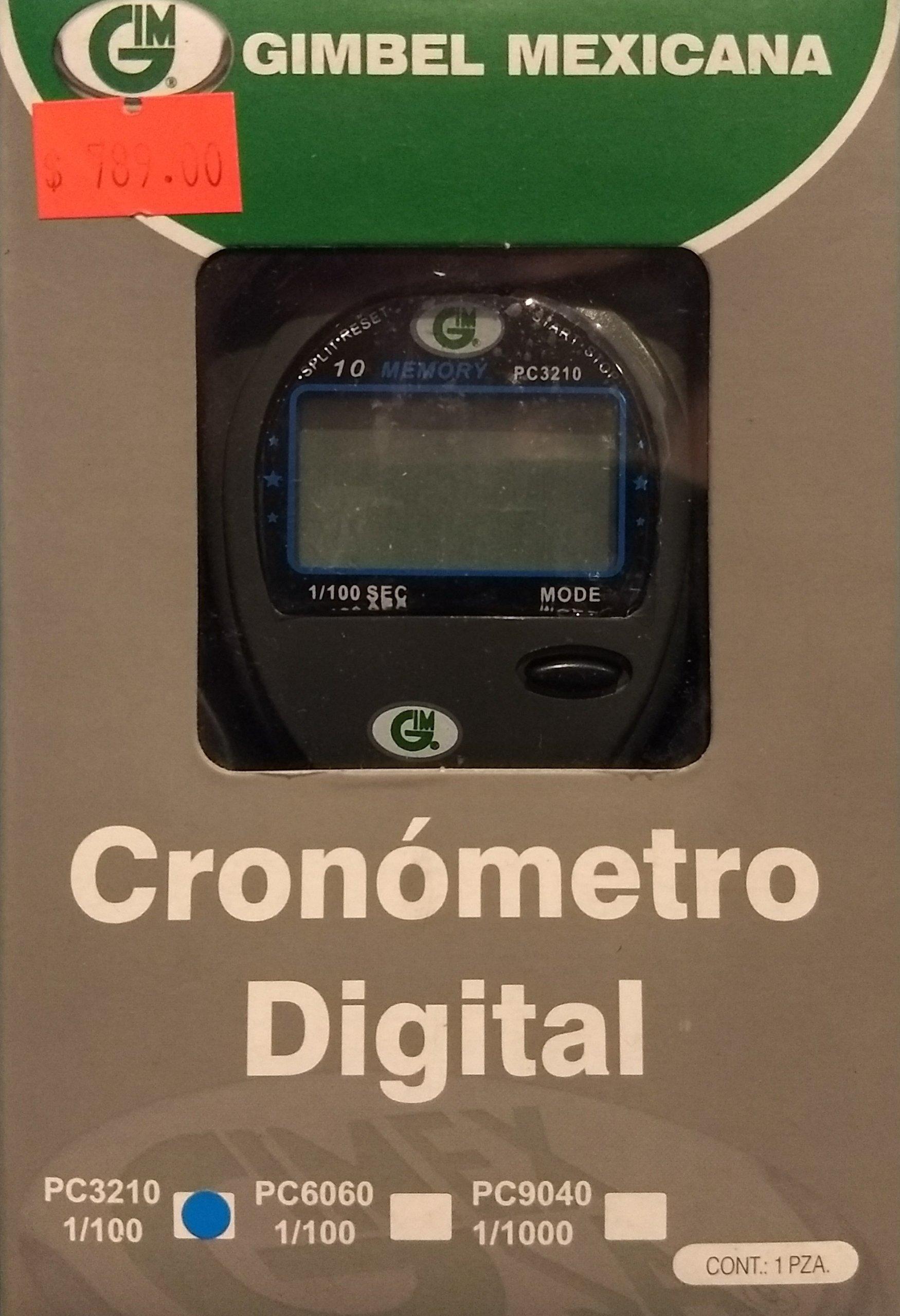 Cronómetro Digital 1/100 GIMBEL