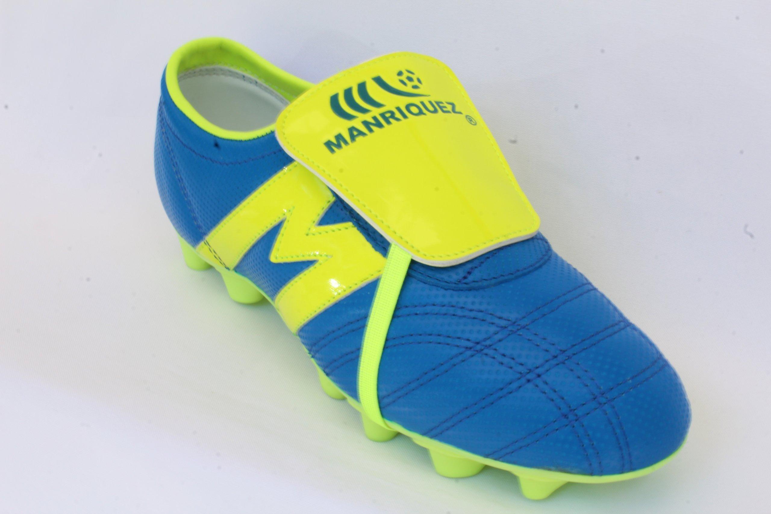 2232B-Zapato de Futbol Manriquez MID SX AZUL/VERDE