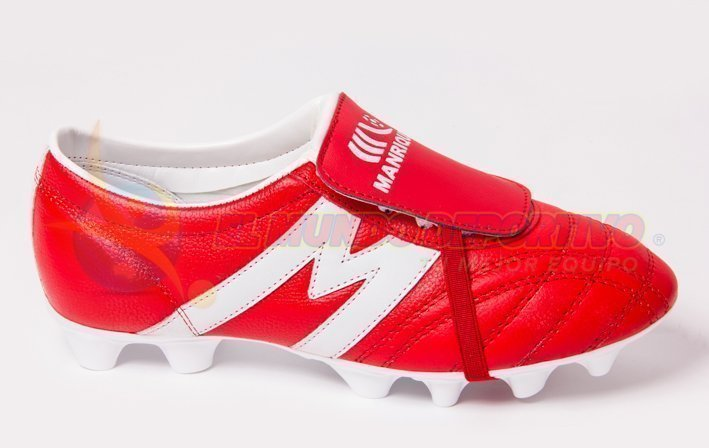 2196-Zapato de Fútbol Manriquez MID SX Rojo/Blanco