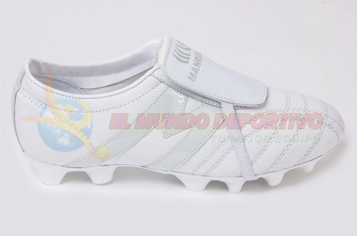 2215-Zapato de Futbol Manriquez MID SX TOTAL BLANCO