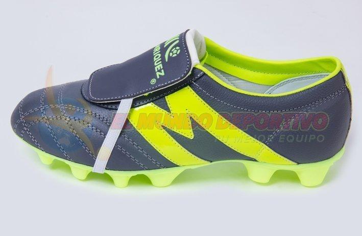 2220-Zapato de Futbol Manriquez MID SX GRIS/VERDE