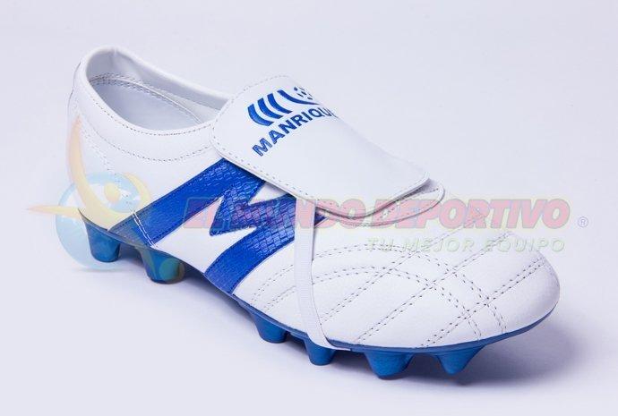 2966-Zapato de Fútbol Manriquez MID SX Blanco/Rey