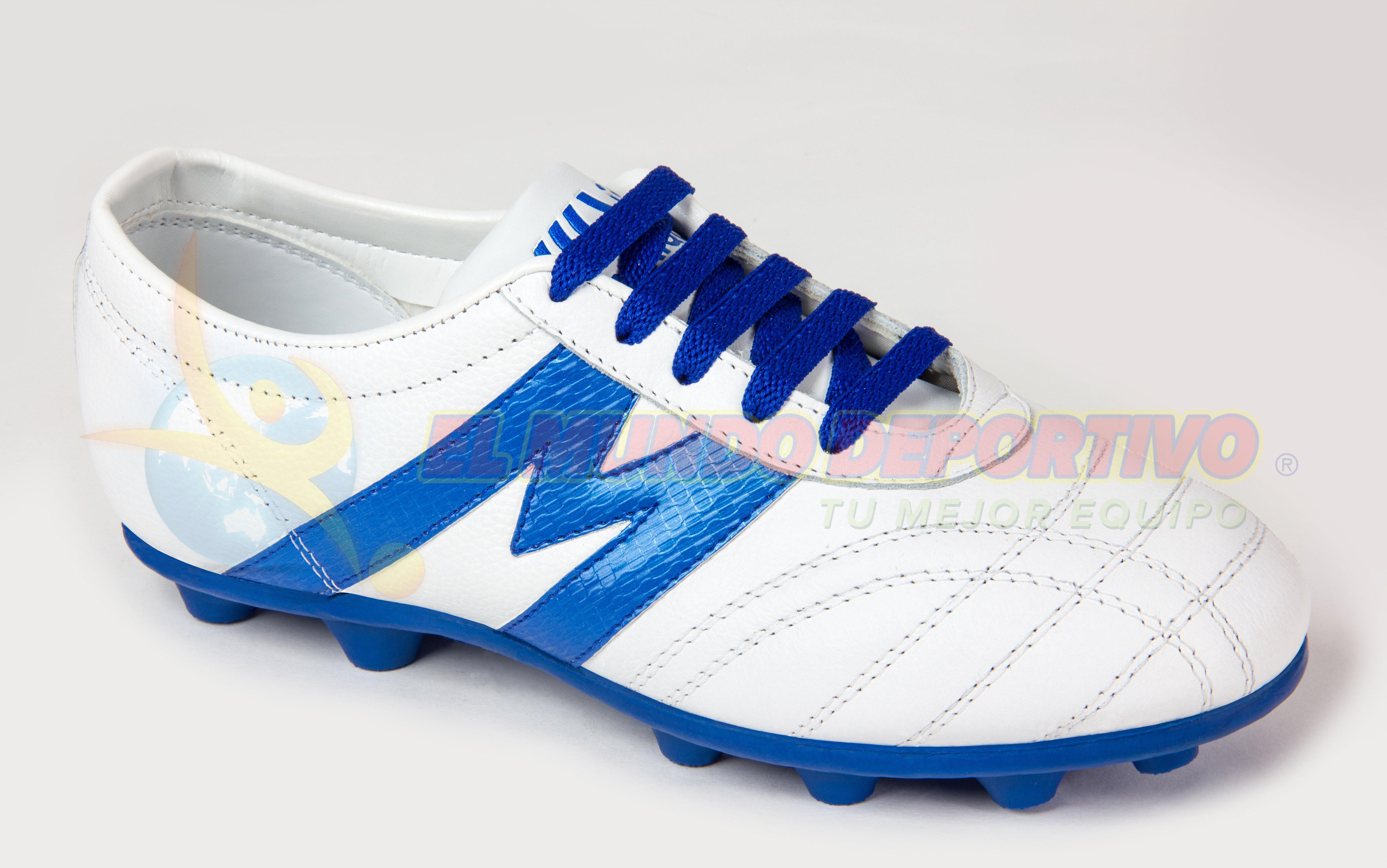 Inicio Tienda Tacos Fútbol Superficie Dura (Tierra) Modernos Zapato futbol  Manriquez MID TX bco rey 2d38edb10d220