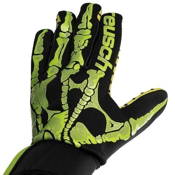 Guante de Portero Marca Reusch Pure Contact X-Ray G3 Speedbump Negro/Verde Limon