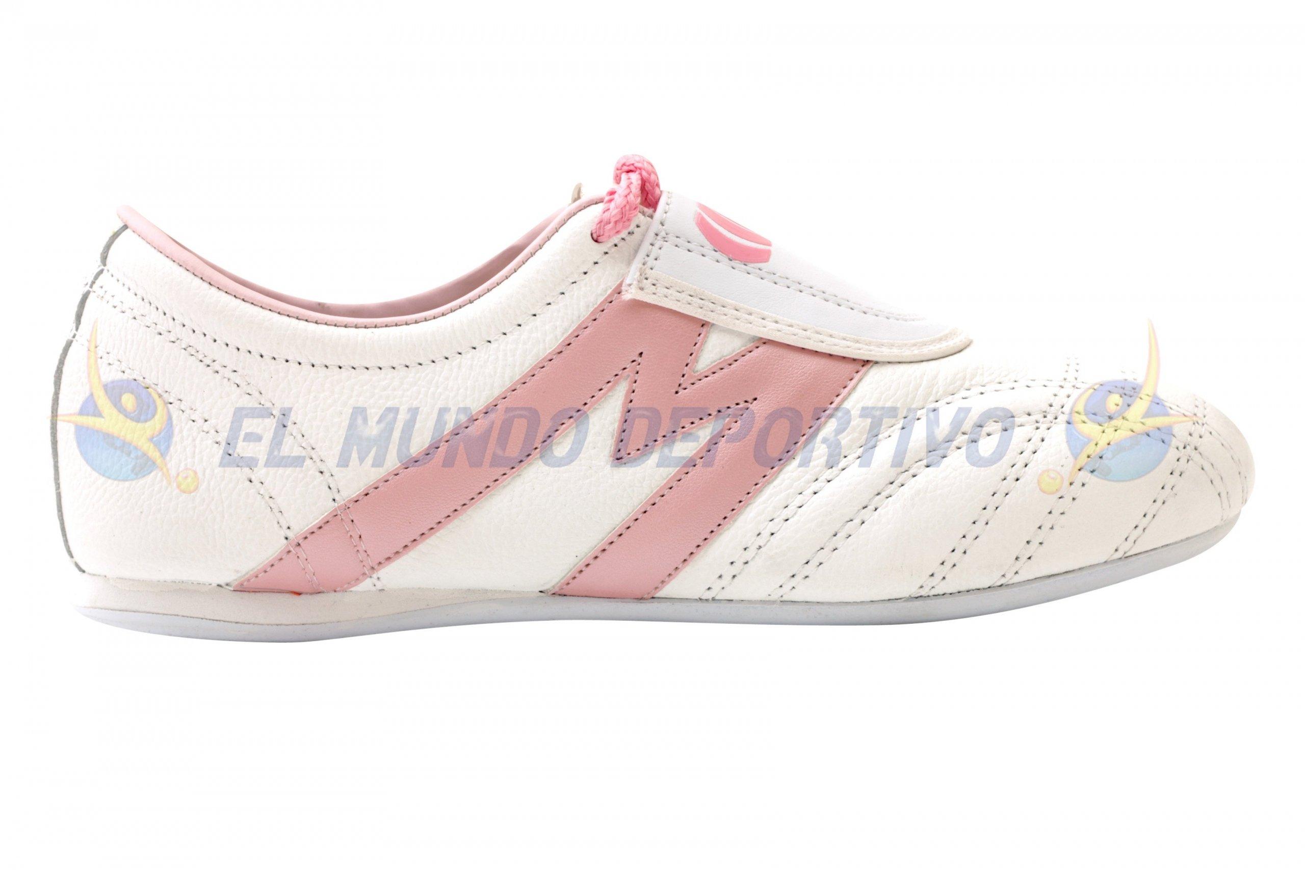 2963-Tenis Artes Marciales marca Manríquez mod TAE color Bco con rosa
